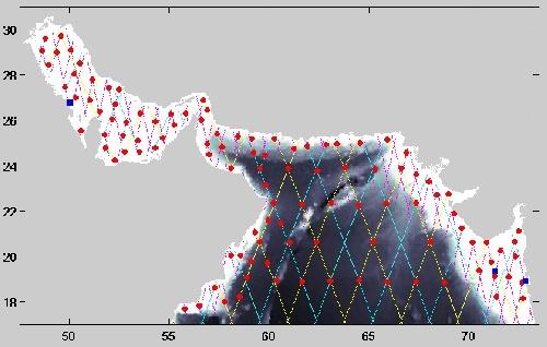 1790723 - داده های پیش نیاز نرم افزار TMD برای محاسبه جزر  و مد در خلیج فارس